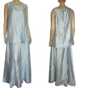New LUMINOUS 2-pc Maternity Formal Gown Set M